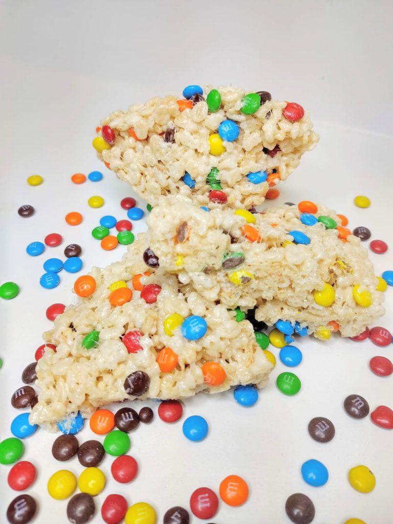 M&M Rice Krispie Treats