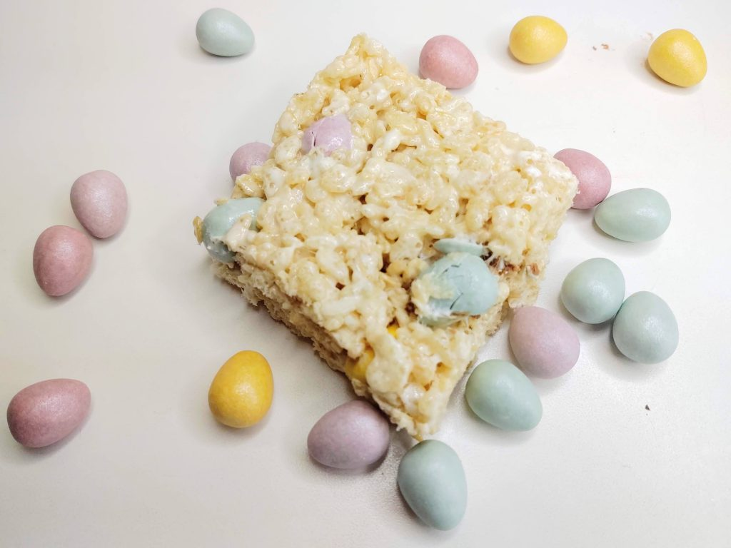 spring rice krispie treats