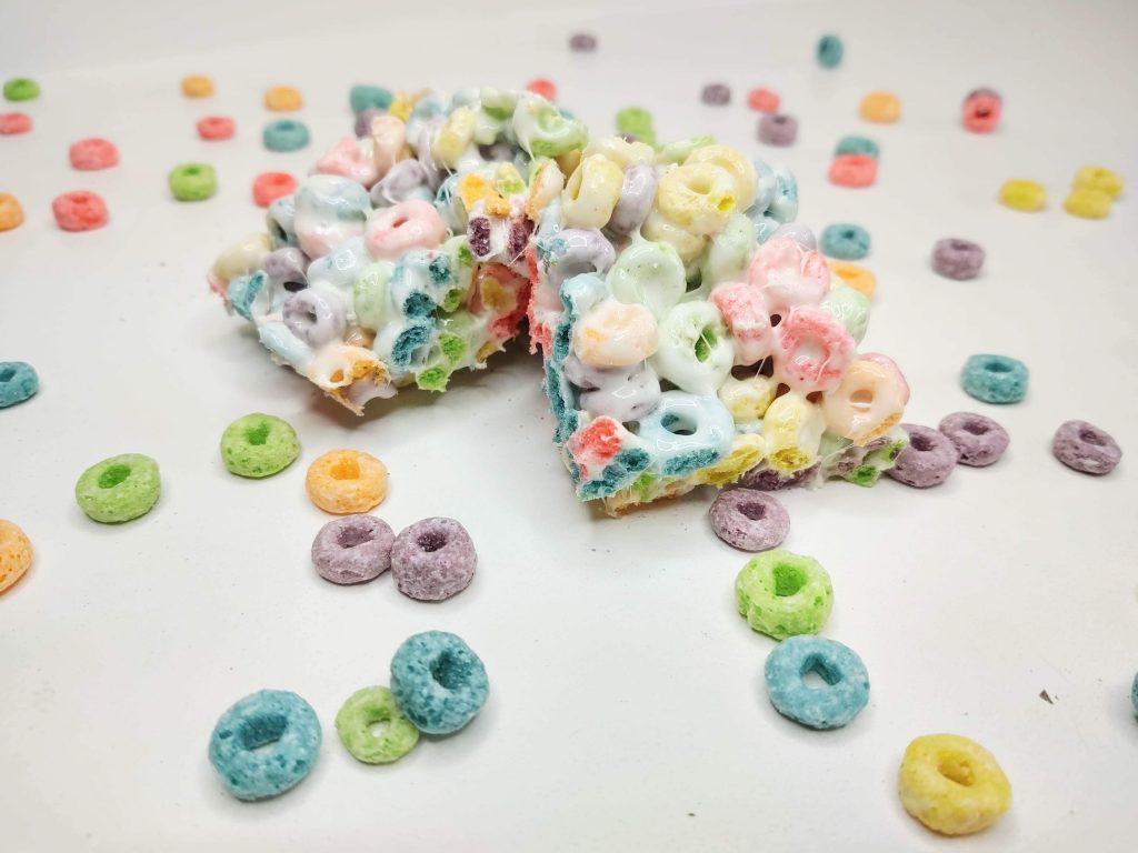 fruit loops rice krispie treats