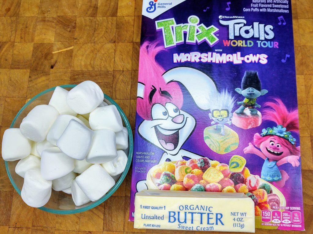 trolls rice krispie treats ingredients