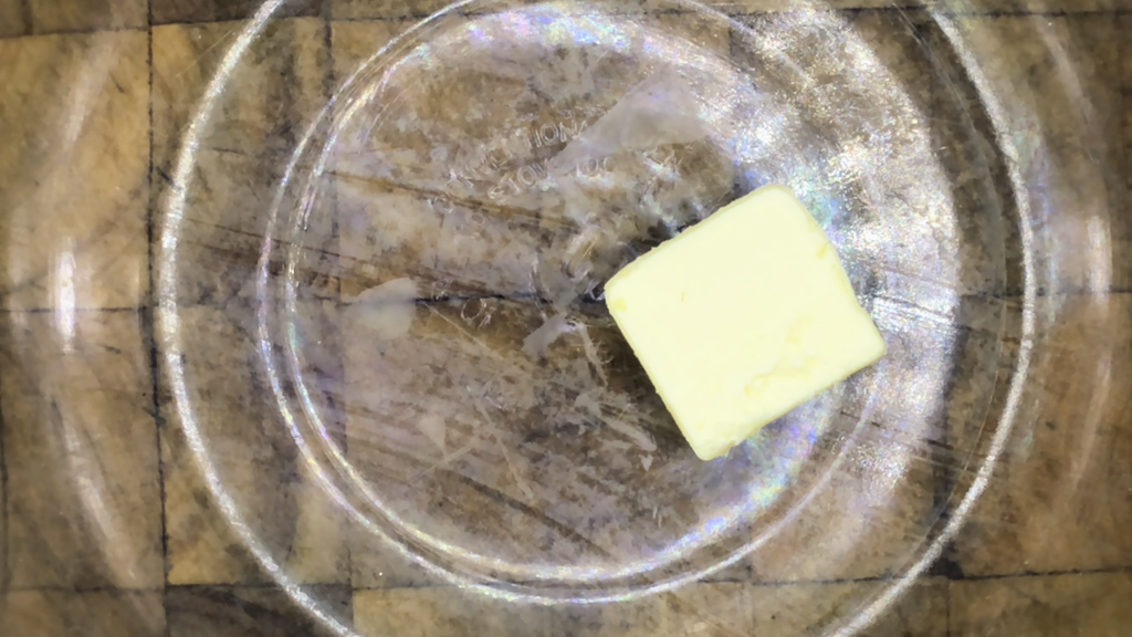 close up of 3 tablespoons of butter in bowl