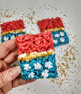 Wonder Woman Rice Krispie Treats