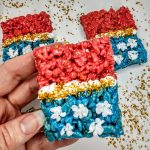 wonder woman rice krispie treat