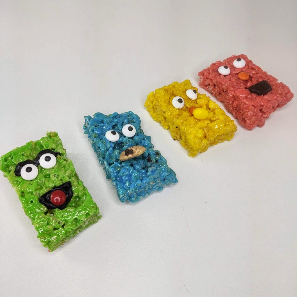 sesame street rice krispie treats