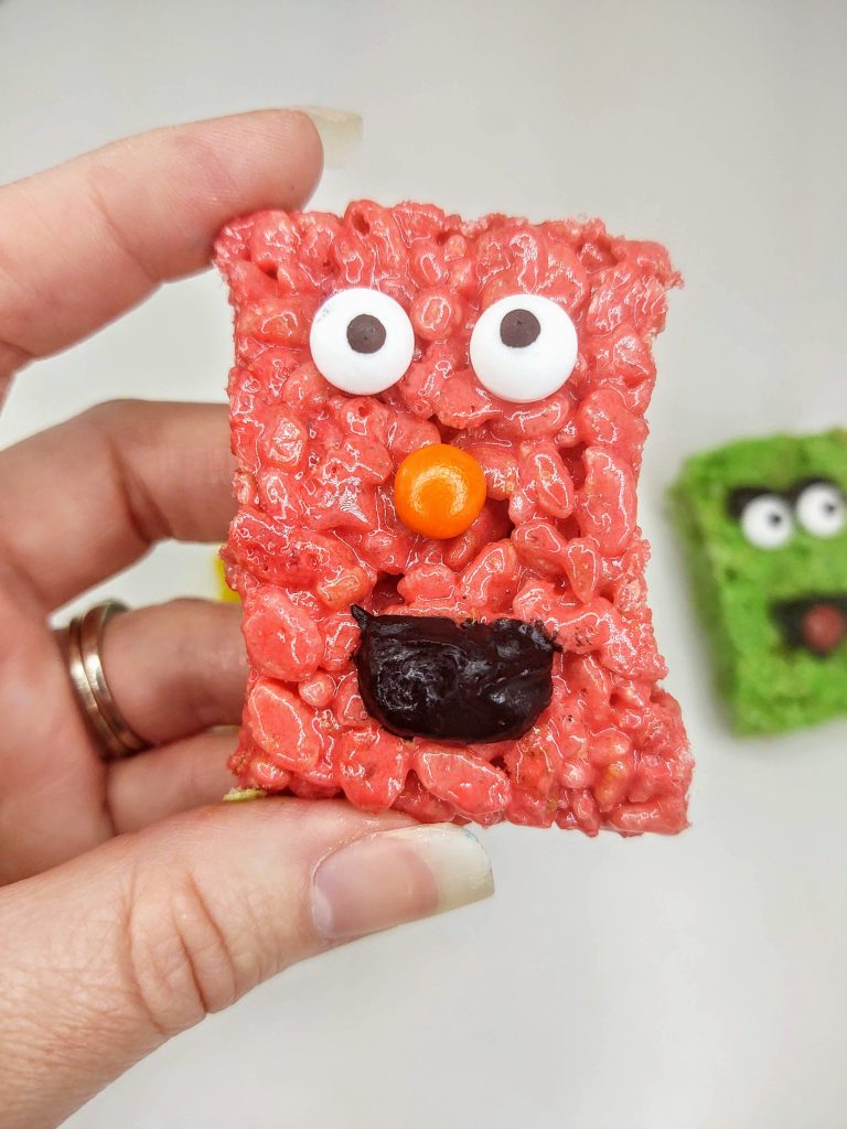 sesame street rice krispie treat of Elmo