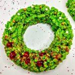holiday wreath rice krispie treats