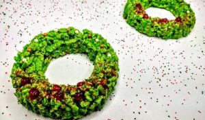 Holiday Wreath Rice Krispie Treats