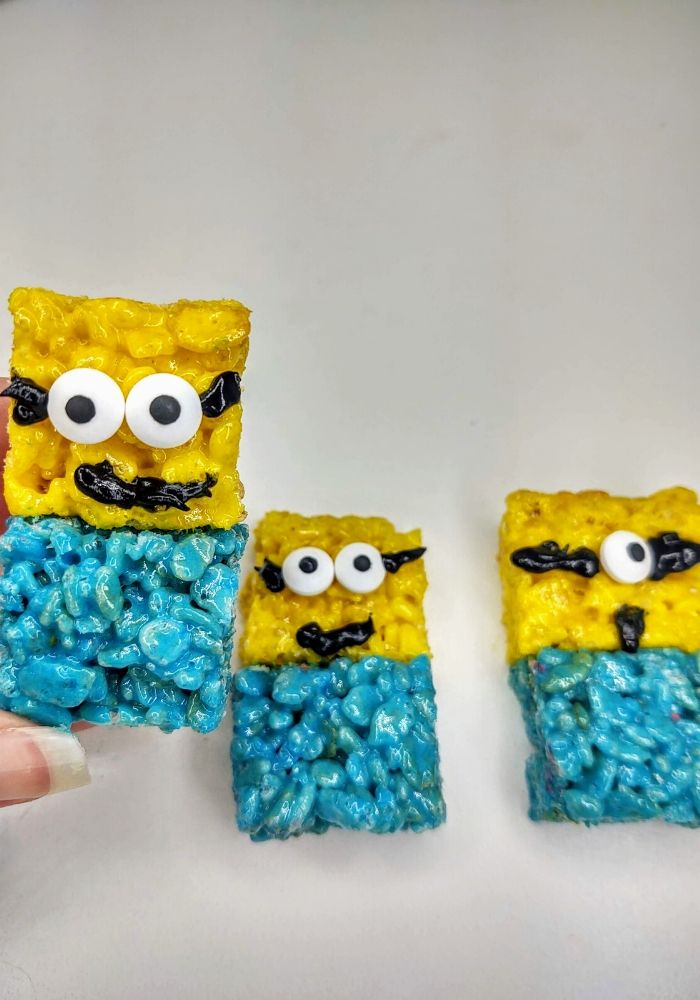 minion rice krispie treats