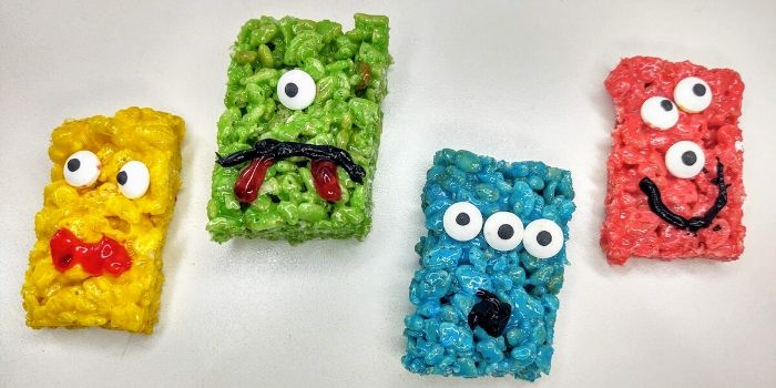 4 monster rice krispie treats