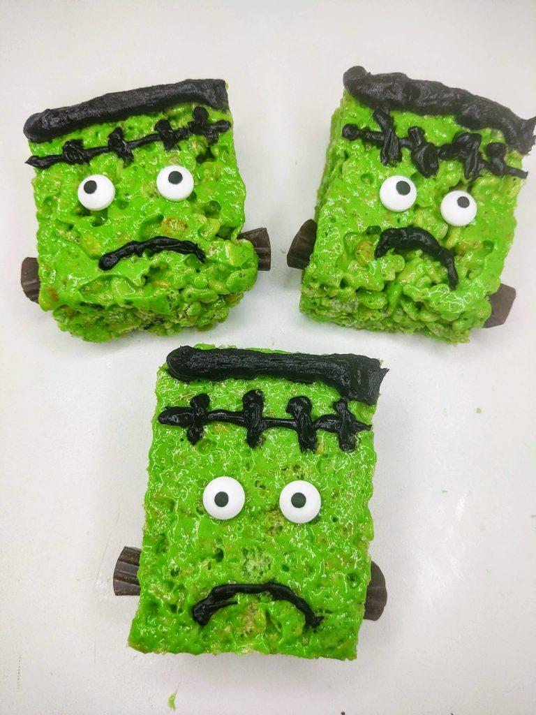 Frankenstein Rice Krispie Treats