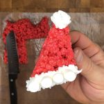 santa hat rice krispie treat