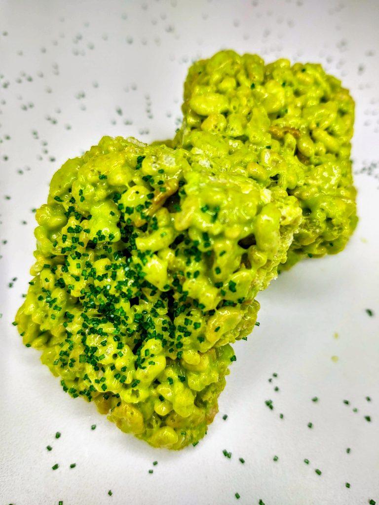 green rice krispie treats