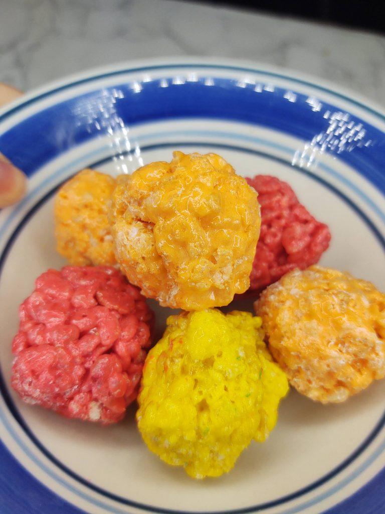 fall rice krispie treats