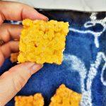 orange rice krispie treats