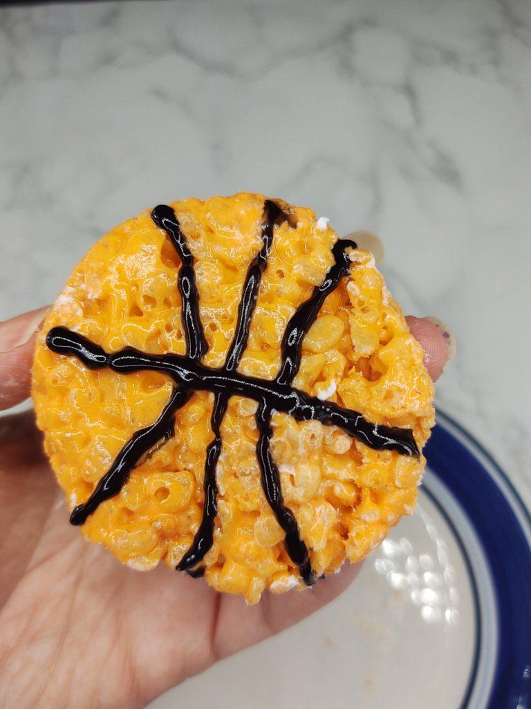 basketball rice krispie treat